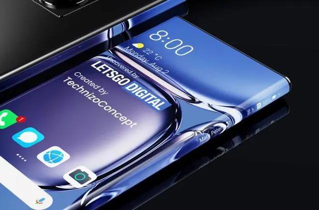 华为大曲率弧面屏手机专利曝光:带有侧面触控键